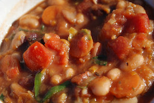 Rock the Crock! Savory 16 Bean Sweet Potato Chili