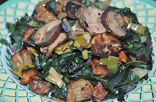 Beets, Leeks, Red Kale and Mushrooms with an Asian Flare