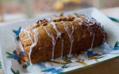 Iced Pumpkin Bread–Vegan Style