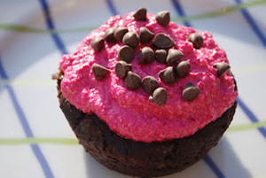 Coconut Cashew Cream Frosting with Beet Coloring