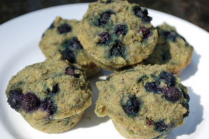 Gluten Free Vegan Blueberry Corn Muffins