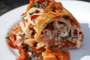 Vegan Lasagna Rolls