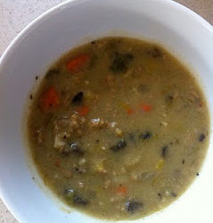 Leek, Potato and Portobello Soup