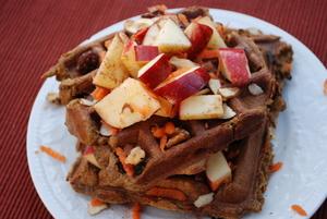 Gluten Free Vegan Pumpkin Waffles