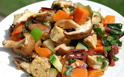 Asian Shiitake Tempeh Stir-Fry