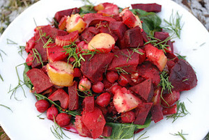 Roasted Beets with Apples, Fennel, and Garbanzo beans
