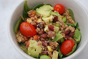 Rockin' Moroccan Quinoa Salad with Avocado