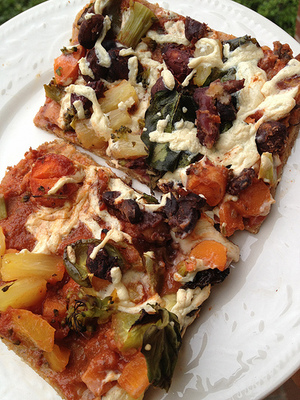 It's Not Delivery, It's Delicious! Vegan Pizza!