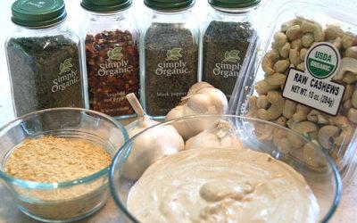 Garlic Cashew Cream Sauce (Raw, Vegan, Gluten Free)