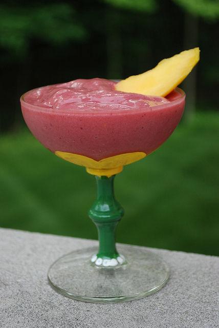 Pretty Delicious Mango Beet Banana Smoothie with Coconut Milk