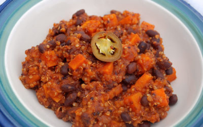 Vegan Chili with Quinoa, Sweet Potato, and Black Beans