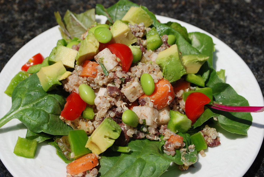 Spicy Quinoa Salad with Summer Garden Harvest