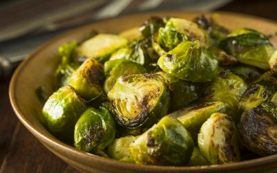 Crispy Hot Honey Glazed Brussels Sprouts