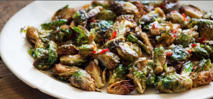 Honey Buffalo Brussels sprouts