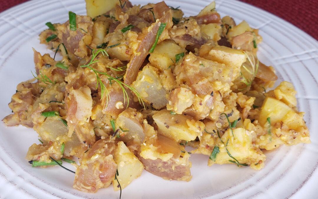Caramelized Onion Potato & Lentil Salad